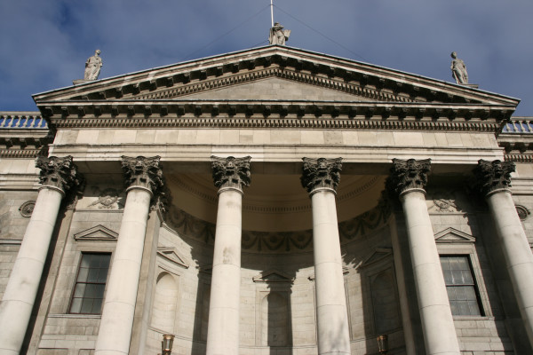 Four Courts Building in Dublin. Famous Irish landmark.